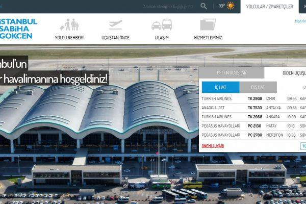Sabiha Gökçen Havalimanı'nın sitesi yenilendi