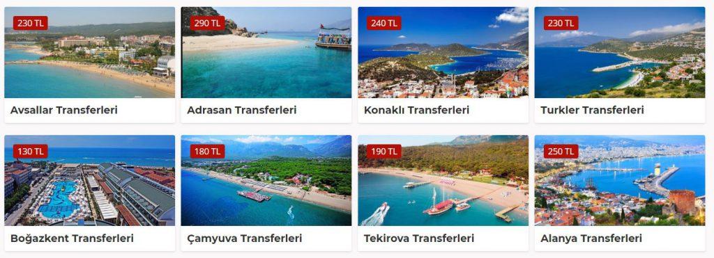 Adrasan Çamyuva Turkler Boğazkent transfer