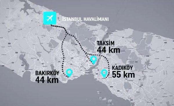 İstanbul Havaalanı 360 Haritası ve Ulaşım Bilgileri