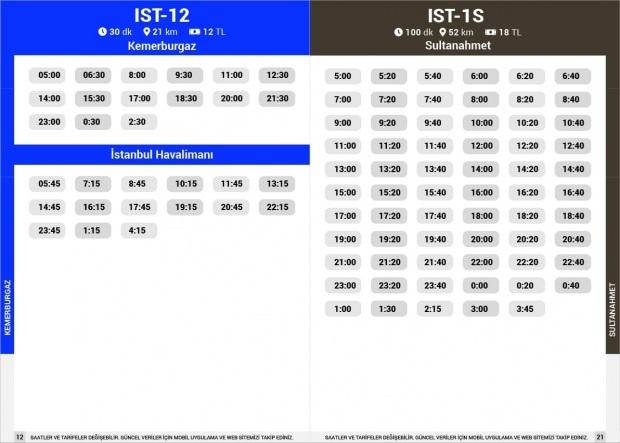 Havaist IST-12 Kemerburgaz / IST-1S Sultanahmet