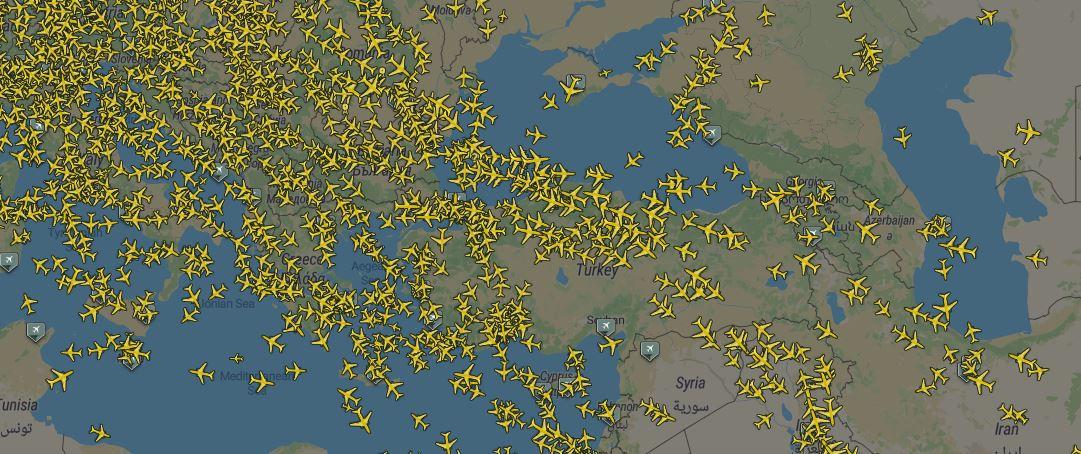 Hava Yolculuğu İnfografik