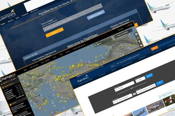 Uçuş Takibi, Durumu ve İzleme Siteleri
