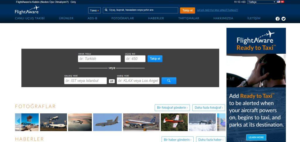flight aware uçuş durumu takibi
